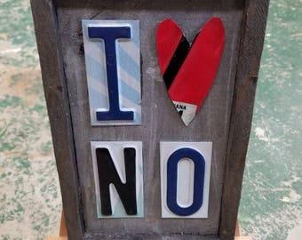 "I ""Heart"" N.O. - New Orleans License Plate Art"