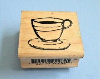 Coffee Cup Papercraft Rubber Stamp Card Making Supply DIY Morning Coffee Invitation Greeting Cards Scrapbooking Planner Goodie Craft Supply