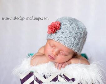 Textured Beanie Crochet Pattern - Baby Beanie Crochet Pattern - Textured Hat Crochet Pattern - Adult Textured Beanie Crochet Pattern