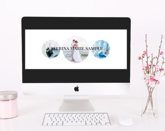 Marketing Material - Three Circle Modern Facebook Website Timeline Cover Photo Template
