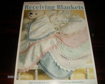Thread Crochet Patterns Receiving Blankets Leisure Arts 2581 Terry Kimbrough Crochet Pattern Leaflet