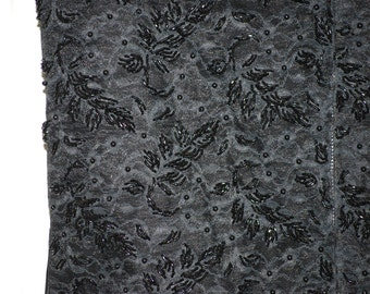 Black Beaded Top, Vintage, Gorgeous!