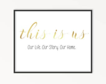 This Is Us, Gold Foil Print, Family