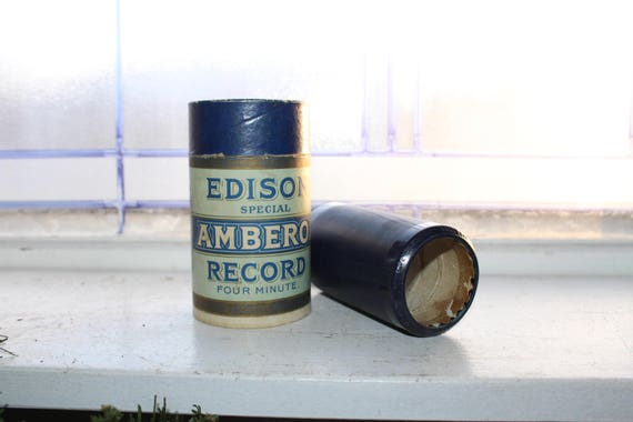 Antique Edison Cylinder Record 1811 When The Roll Is Called Up Yonder