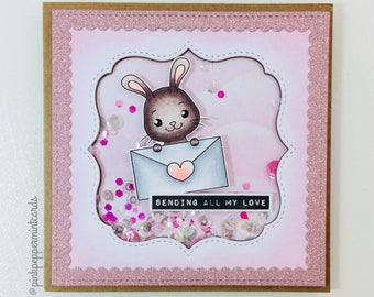 Sending All My Love - Gift Card (dimentional card containing sequins)