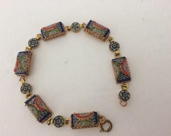 Vintage Colorful Vintage Micro Mosaic Bracele