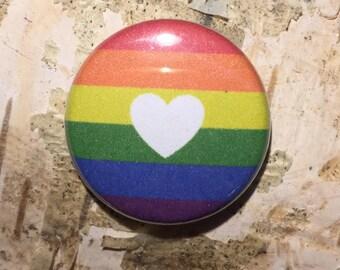 "Love in Pride 1"" Button or Magnet"
