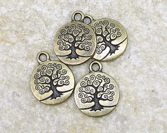 Brass Charms - TierraCast Tree of Life Charms - Brass Oxide 19mm x 15mm Bronze Charm (PA26)