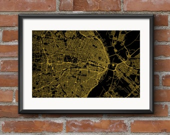 St Louis Map Art Print – Golden // St Louis Poster | St Louis Art | St Louis Print // Free Shipping