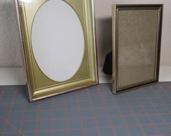 Vintage Metal Picture Frames - Set of 2