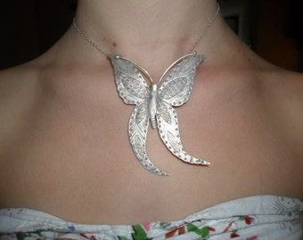 Pendant big Butterfly Silver 925