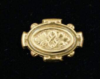 Vintage Designer Signed Gold Tone Brooch Pin - KRAMER New York