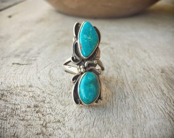 Turquoise Ring Native American Ring, Navajo Jewelry, Girlfriend Gift for Women, Turquoise Jewelry, Navajo Ring, Authentic American Indian