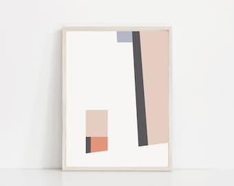 Abstract Geometric Print. Mid Century Art Prints. Mid Century Modern Art. Geometric Art Prints. Abstract Art Print. Mid Century Modern Print