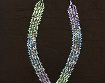 V-shape bead-weave necklace