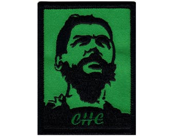 Che Guevara Portrait Patch Cuban Revolution Leader Embroidered Iron On Applique