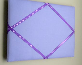 "11""x14"" Lilace & Purple Dot French Memory Board, Bow Holder, Bow Board, Vision Board, Photo Display, Business Card Display, Ribbon Board"