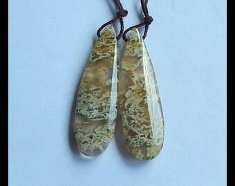 Ochoco Agate Gemstone Earring Bead,43x13x5mm,8.8g (E9761)