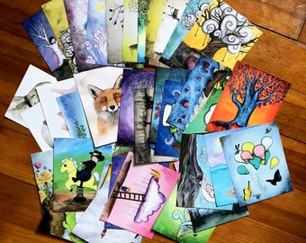 Super Fantastic Postcard Pack ONLINE ONLY - Featuring 36 Paintings by Marcia Furman  -