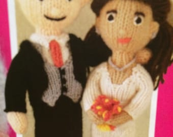 Knitted Bride and Groom Knitting Pattern