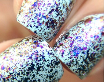 FLAKIE Topcoats (Sparks)  Multi-Color Shifting Polish:  Custom-Blended Glitter Nail Polish / Indie Lacquer / Polish Me Silly