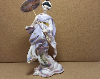 Bradford Exchange Limited Edition Silken Whisper Collection Oriental Ladies  Porcelain Figurine