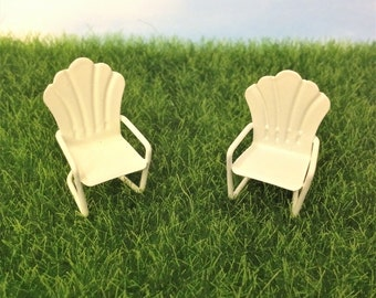 One Micro Mini Garden Chair, Patio Chair, Fairy/Dollhouse Tiny Chair
