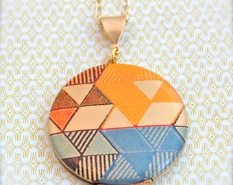 "Alyson Fox Vintage Art Locket Necklace ""Detail Color Study"""