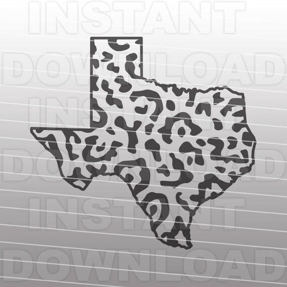 Texas Leopard Print Svg Filetexas State Outline Svg