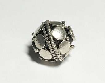 Bali Sterling Silver Round Bead 12mm