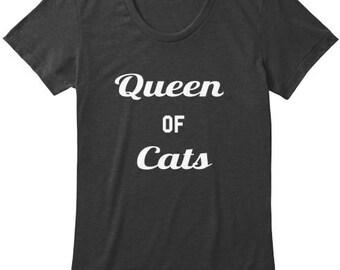 Queen of Cats Women's Tri Blend T-shirt