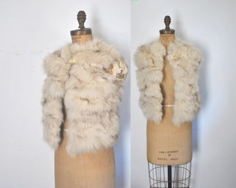 Fox Fur Vest / silver white / XS