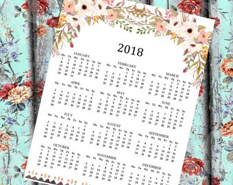2019 Large Wall Calendar And 2018 Calendar Printable Wall