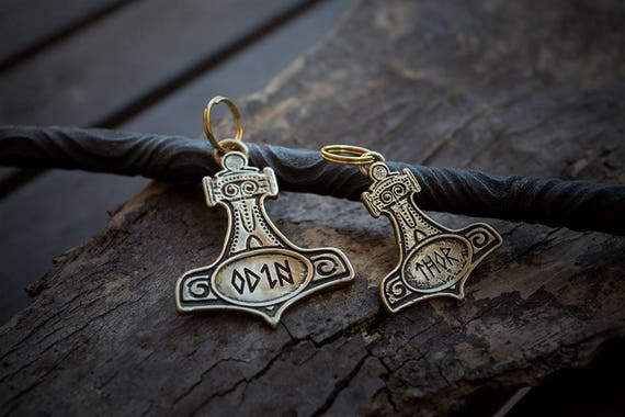 pet engraved collar plate mjolnir the hammer of thor
