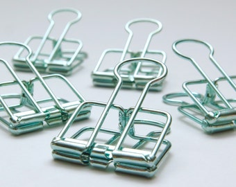 Green Blue Planner Paper Clips Planner Accessories Skeleton Bull Clips x 5