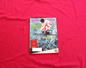 1980s Vintage Sports Illustrated Magazine. February 27, 1984 Bill Johnson Olympic Skier Sports Illustrated Magazine. 80s Ski Gift.