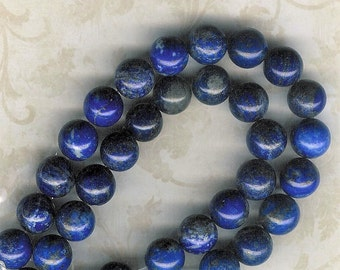 12mm Lapis Lazuli, 7.5 inch Strand, Royal Blue Stone, 12mm Royal Blue Stone, Lapis Stone, Blue Stone, 12mm Lapis, Julie's Bead Store, Lapis