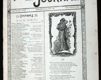 The LADIES' HOME JOURNAL (Issue of June 1890)