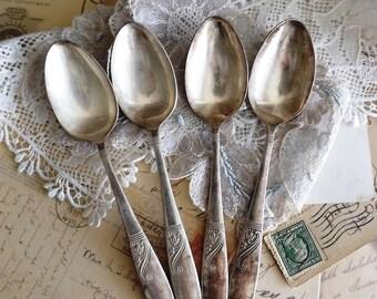 Silver Plate Vintage Teaspoons by avintageobsession on etsy