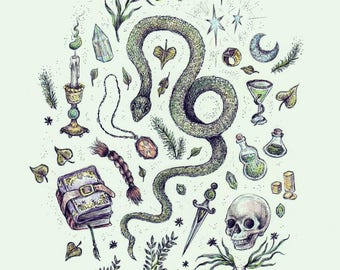 Slytherin 5x7 art print