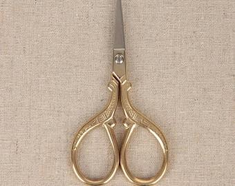 Antique Scissors metallic Golden Scissors Vintage DesignTools Supplies