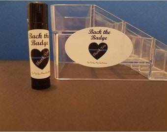 Tea Tree & Mint Lip Protectant/chapstick/law enforcement gifts/support of K9 cops/Homemade with all Organic and Fair Trade Ingredients