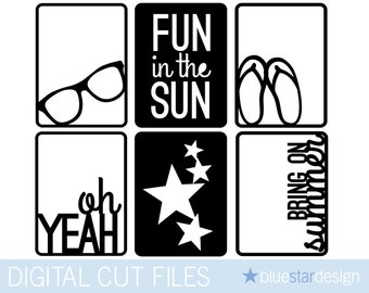 Fun in the Sun Cards (3x4) for Project Life & Scrapbooking