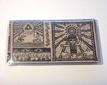 Zelda Nintendo Checkbook cover, Legend of Zelda, Link, Ganon, Tri Force, Hyrule & matching decal