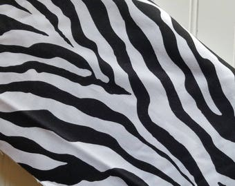 Michael-Miller-Fabric-By-The-Yard-Zebra-Skin-Print-Black-White-Cotton-Quilting-Fat-Quarters-Sewing-DIY-Projects-Crafts-Supplies