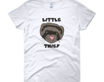 Little Thief Ferret Women's short sleeve t-shirt