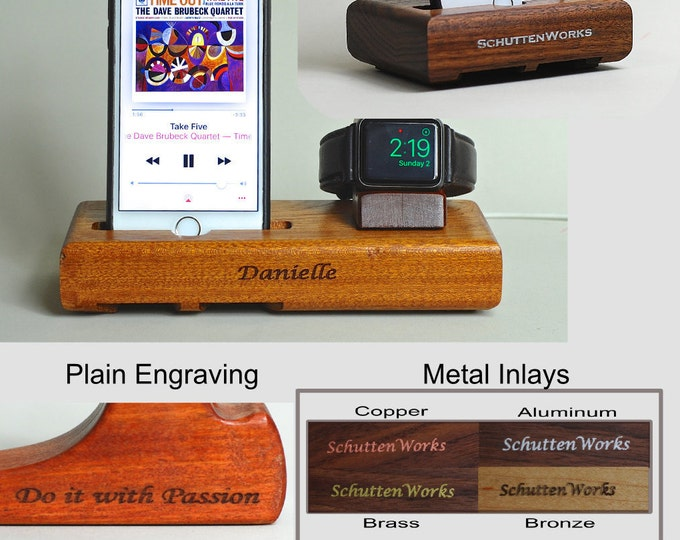 Custom Engraving - Personalize your dock with an Engraving - Plain or Inlay
