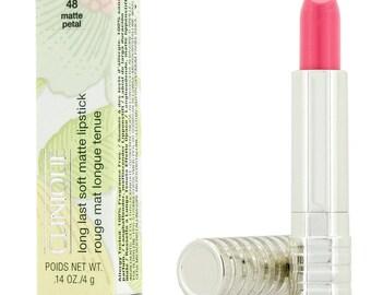 CLINIQUE long last soft matte lipstick, matte petal