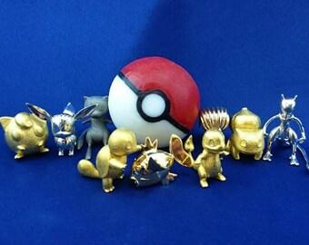Gold Pokemon, Golden Pokemon Gift, 3D Printed in Soap, Pokemon Gold, Pokemon Golden, Gift Gold Pokemon, Choice of Material, Pokemon Golden