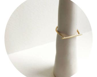 Solid Gold Delicate Bar Ring / Stacking Ring / Minimalist / MINIMA Jewellery